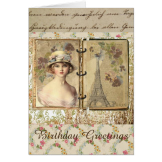 Vintage Style Birthday Card For Women