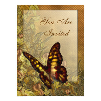 Vintage Style Butterfly Illustration Invitations