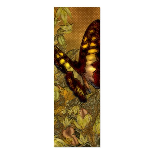 Vintage Style Butterfly Illustration Mini Bookmark Business Cards