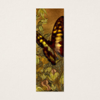 Vintage Style Butterfly Illustration Mini Bookmark Mini Business Card