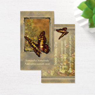Vintage Style Butterfly Illustration Profile Card