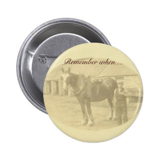Vintage style button badge