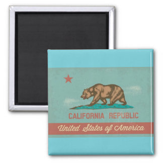 Vintage Style California Flag Magnet
