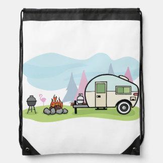 Vintage Style Camper Drawstring Backpack