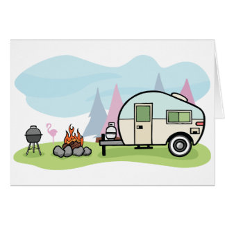 Vintage Style Camper Greeting Cards