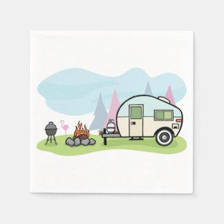 Vintage Style Camper Paper Napkins