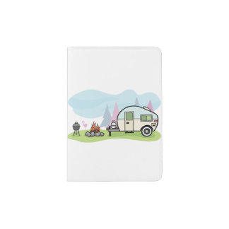Vintage Style Camper Passport Holder
