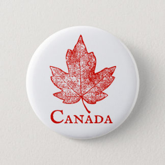 Vintage Style Canada Maple Leaf Skeleton Button