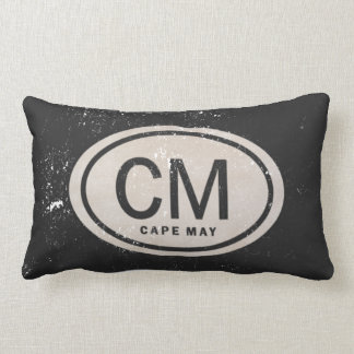 Vintage Style Cape May NJ Beach Tag Pillow