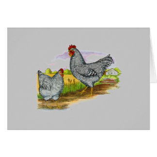 Vintage Style Chickens Greeting Card