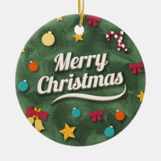 Vintage Style Christmas greeting Ornaments