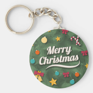 Vintage Style Christmas greeting Key Chains