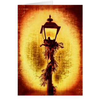 Vintage Style Christmas Street Lamp Holiday Card
