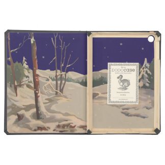 Vintage Style Christmas Winter Evening iPad Air Covers