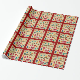 Vintage Style Christmas Wrapping Paper