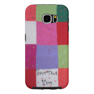 vintage style colorful knitted patchwork design samsung galaxy s6 cases