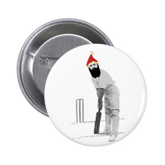 Vintage style cricketing christmas gifts 6 cm round badge
