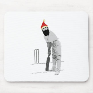 Vintage style cricketing christmas gifts mouse pad