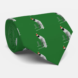 Vintage style cricketing christmas gifts tie