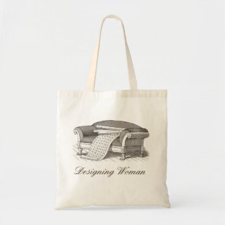 Vintage Style Designing Woman Interior Decorator Tote Bag