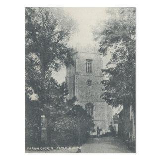Vintage Style Earls Colne Church Postcard