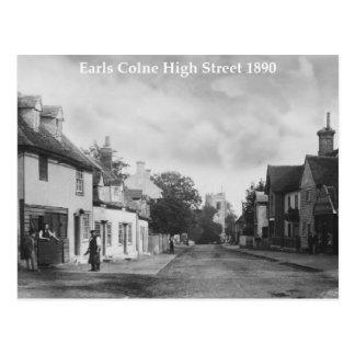 Vintage Style Earls Colne High Street Postcard
