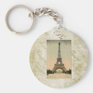 Vintage Style Eiffel Tower Art Keychains