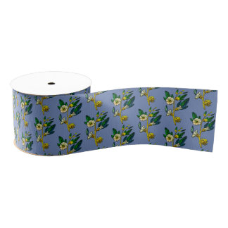Vintage Style Floral Craft Ribbon Grosgrain Ribbon