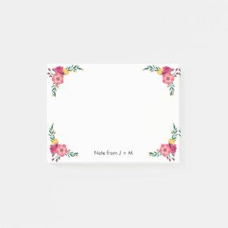 Vintage Style Floral Flower Sets Custom Wedding Post-it® Notes