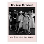 Vintage Style Girls' Night Out Birthday Card