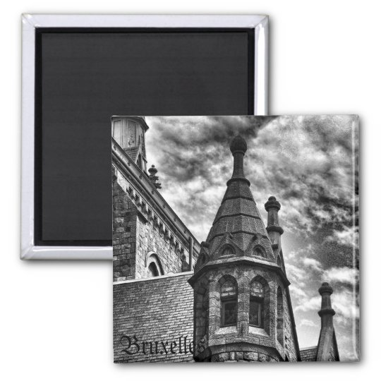 Vintage style gothic church magnet