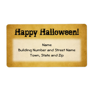 Vintage Style Halloween Shipping Label