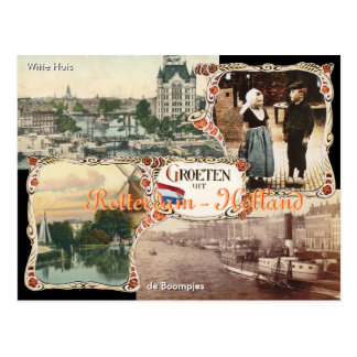 Vintage style Holland Postcard Rotterdam