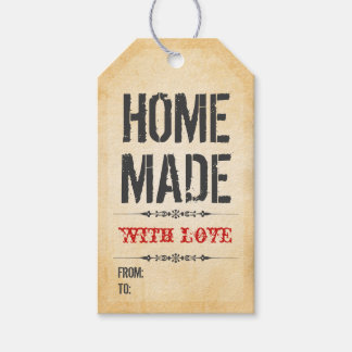 Vintage Style Home made with Love Gift Tags