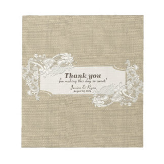 Vintage Style Lace Design Candy Bar Wrap Notepad