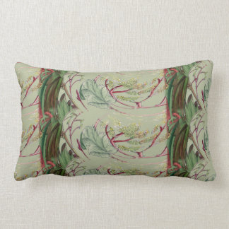 "Vintage Style Leaf Print Lumbar Pillow 13"" x 21"""