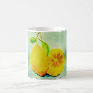 Vintage Style Lemons Coffee Mugs