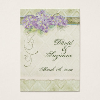 Vintage Style Lilac Hydrangea - Favor Gift Tags