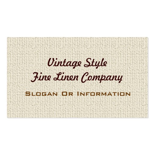 Vintage Style Linen Business Cards