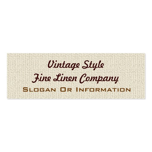 Vintage Style Linen Small Business Cards