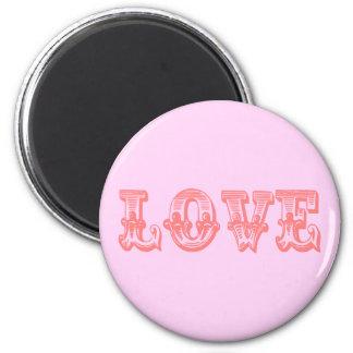 Vintage Style Love 6 Cm Round Magnet