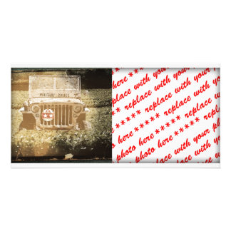 Vintage Style Military Jeep Picture Card