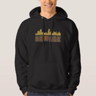 Vintage Style Newark New Jersey Skyline Hoodie
