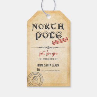 Vintage Style North Pole Christmas Gift Tags Pack Of Gift Tags