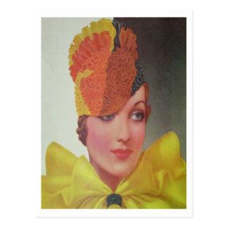 Vintage Style November 1933 Postcard