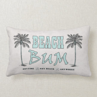 Vintage Style Palm Trees Beach Bum Lumbar Cushion