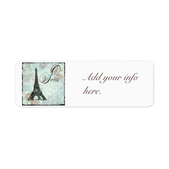 Vintage Style Paris Eiffel Tower Return Address Label