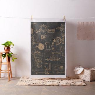 Vintage Style Paris | Old Script | Cottage Style | Fabric
