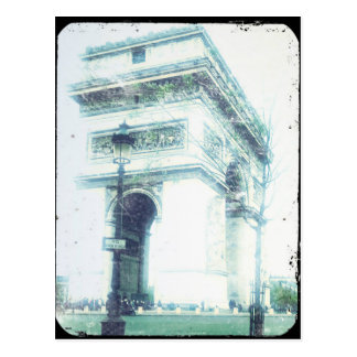 Vintage Style Paris Post Card, The Arc de Triomphe Postcard