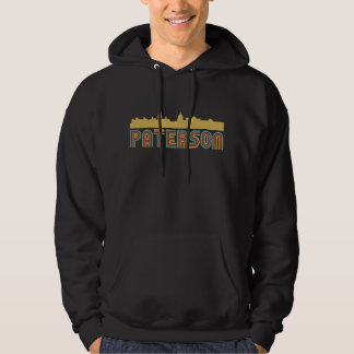 Vintage Style Paterson New Jersey Skyline Hoodie